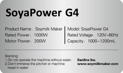 Soyapower G4 Soy Milk Maker