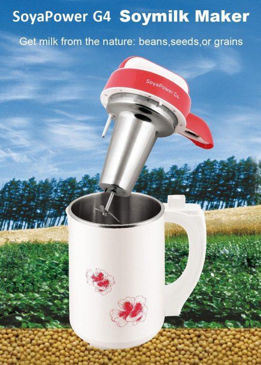 Soyapower G4 Soy Milk Maker, Almond Maker, Rice Milk Maker, Quinoa Milk Maker, and Soup Maker